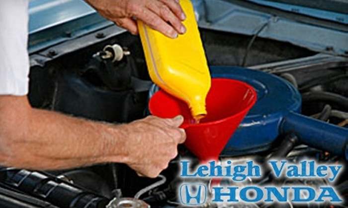 64 Off Oil Change Wash And More Lehigh Valley Honda Groupon
