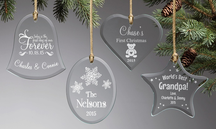Personalized Planet: Personalized Glass Ornaments from Personalized Planet (Up to 61% Off)