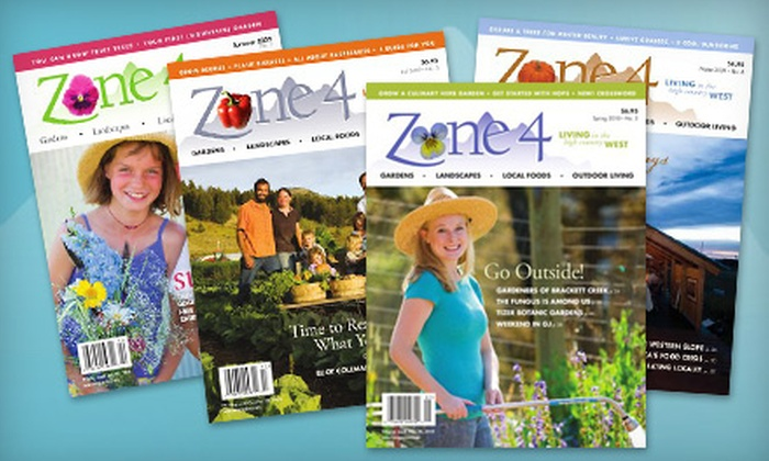"Zone 4 Magazine: $12 for a One-Year Subscription to ""Zone 4"" Magazine ($24 Value)"