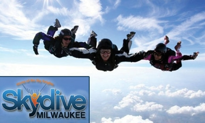 Skydive Milwaukee - Waterford: $110 for a Tandem Jump at Skydive Milwaukee (Up to $189 Value)