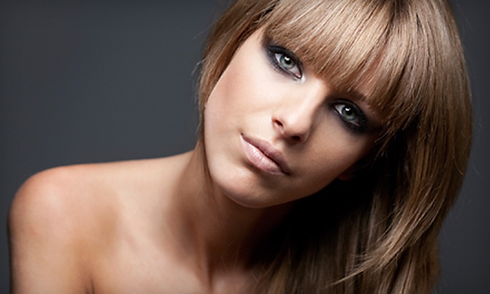 Salon Blu - Multiple Locations: $73 for Haircut and Partial Foil Highlights at Salon Blu (Up to $147 Value)