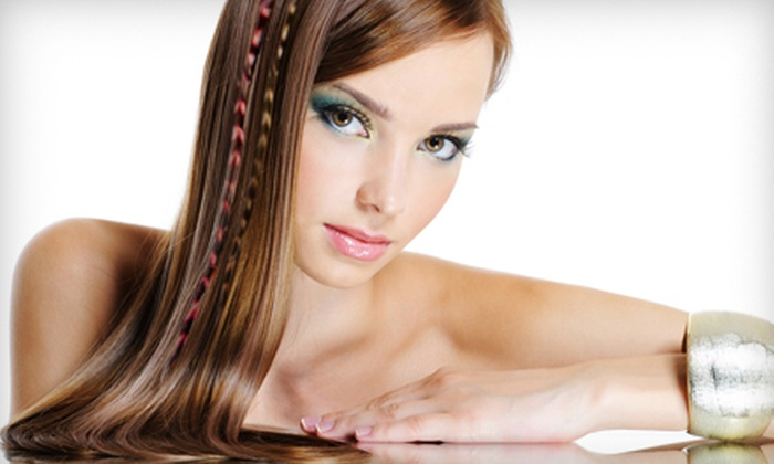Hair Market Junction - Woods Park: Shellac Manicure or Haircut and Two Feather Extensions at Hair Market Junction