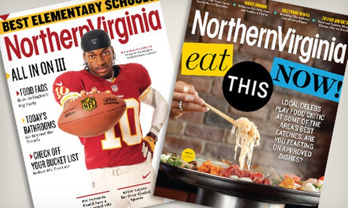 """Northern Virginia Magazine: One- or Two-Year Subscription to """"Northern Virginia Magazine"""" (Half Off)"""