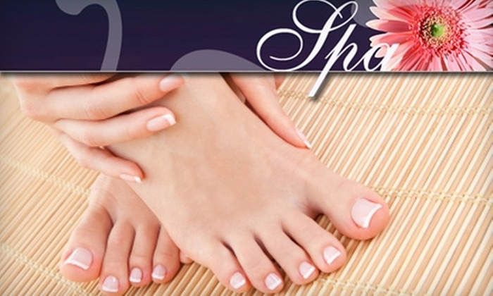 "Spa in the Hollow - Peters: $34 for ""The Hollow"" Pedicure and Spa Manicure at Spa in the Hollow"