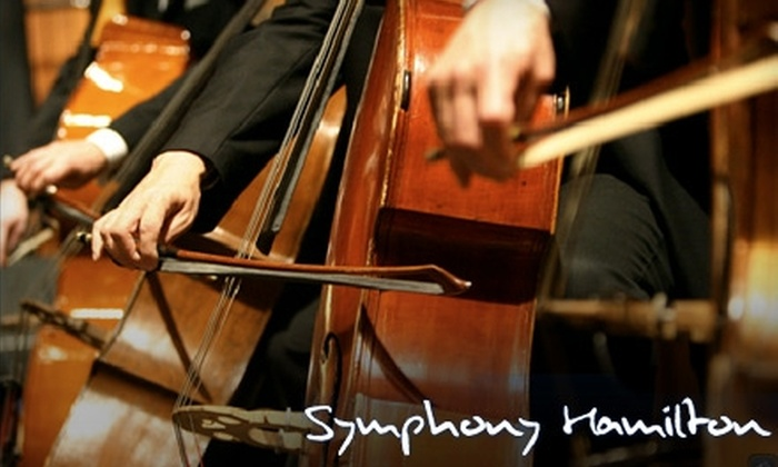 Symphony Hamilton - Multiple Locations: $12 for One Adult Ticket to Symphony Hamilton (Up to $28 Value). Choose from Three Shows.