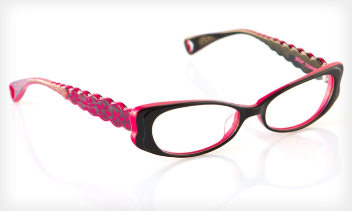 Harajuku Flower Frames: $39 for Harajuku Flower Optical Frames by Betsey Johnson ($195 List Price). Two Colors Available.