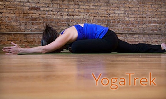 Yoga Trek - Oak Park: $39 for One Month of Unlimited Classes at Yoga Trek ($140 Value)