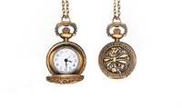 1 or 2 Pocket-Watch Necklaces, or 1 Necklace with 1 Hand-Stamped Ring from Stamp the Moment (Up to 85% Off)