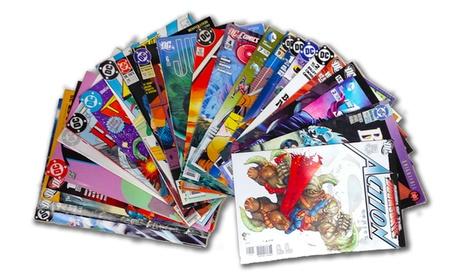 Comic Book Bundle with 25 DC Comics Titles, 25 Marvel Titles, or 50 Marvel and DC Comics Titles
