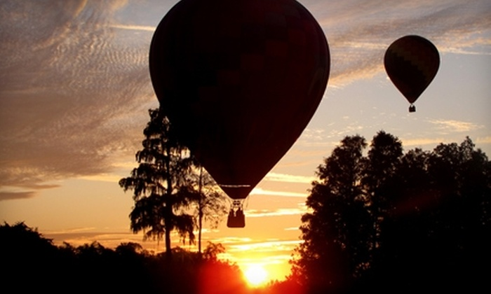 Orlando Balloon Rides - Kissimmee: $105 for a Sunrise Hot-Air-Balloon Ride For One Adult, Plus Breakfast and Champagne (a $175 Value), or $59 for a Child's Hot-Air-Balloon Ride ($125 Value) from Orlando Balloon Rides