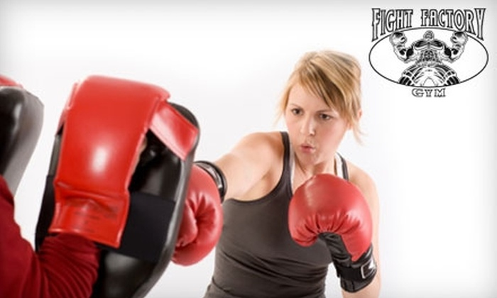 Fight Factory - Gravesend: $49 for Three Private Kickboxing Lessons and One Month of Membership at Fight Factory