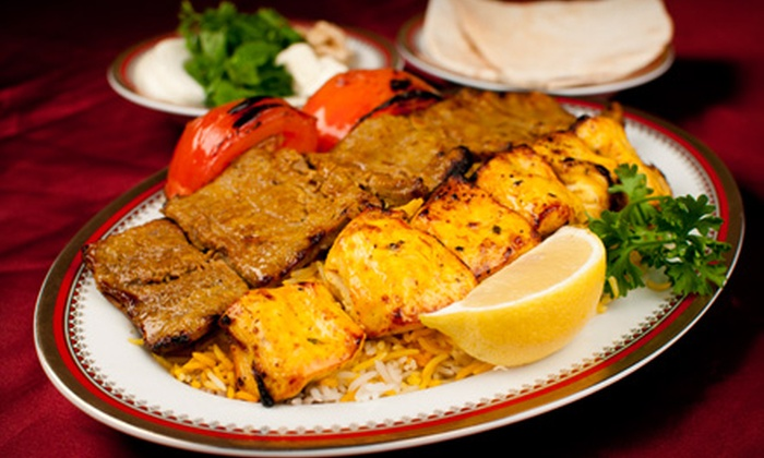 Shandeez Grill - Northwest Austin: Persian and Greek Fare at Shandeez Grill. Two Options Available.