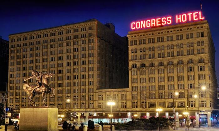 The Congress Plaza Hotel - Chicago, IL: One-Night Weekday Stay at The Congress Plaza Hotel in Chicago