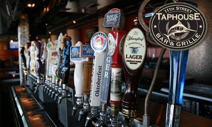 11th Street Taphouse Bar & Grille - Northeast Virginia Beach: $15 for $30 Worth of Creative Pub Fare and Drinks at 11th Street Taphouse Bar & Grille