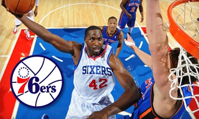 Philadelphia 76ers - South Philadelphia East: $15 for Mezzanine Level Center Seat ($45 Value) or $30 for Lower Level Corner Seat ($67 Value) at Philadelphia 76ers Game. Choose from Two Seating Options and Three Games.