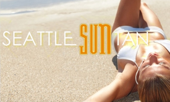 Seattle Sun Tan  - Multiple Locations: $39 for Two Airbrush Tans or Four Tanning-Bed Sessions at Seattle Sun Tan ($90 Value)