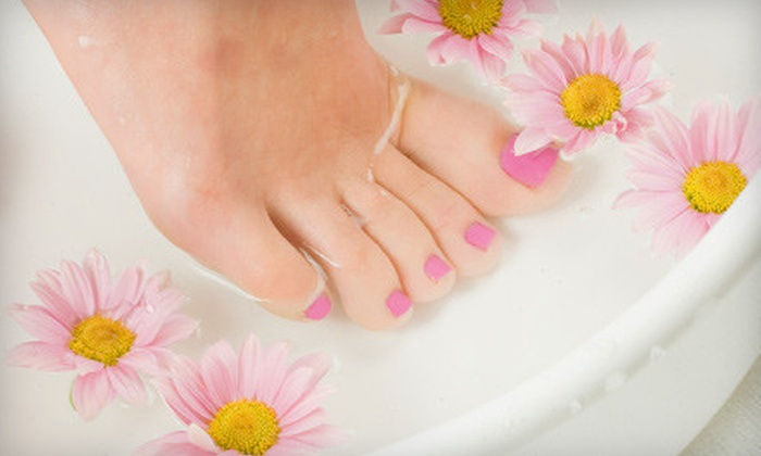 Absolute Bliss - Folsom's Addition: Shellac Manicure Package, Pedicure Package, or Mani-Pedi Package at Absolute Bliss (Up to 57% Off)