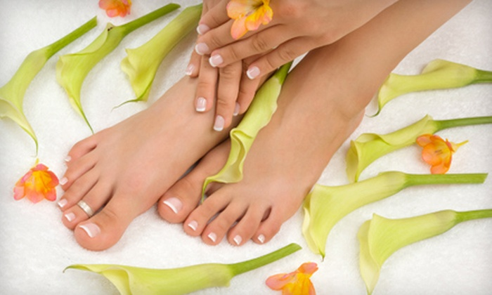 The Shop Tanning & Nails - Carlisle: Mani-Pedi or Acrylic Nail Treatment and Pedicure at The Shop Tanning & Nails in Carlisle (Up to 53% Off)