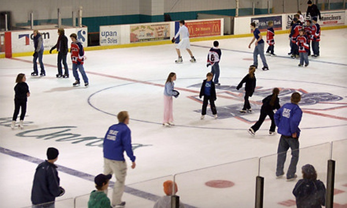 Wings West & Wings Stadium - Multiple Locations: $4 for Skating Outing for One with Open-Skate Admission and Skate Rental at Wings West and Wings Stadium ($8 Value)