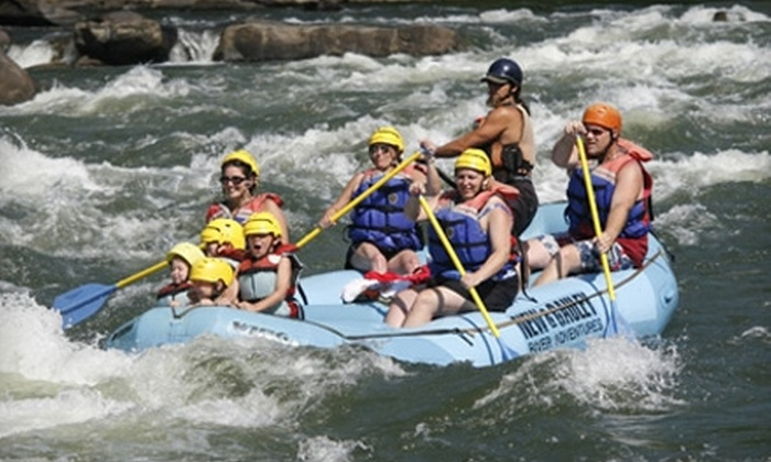 New & Gauley River Adventures - New Haven: Whitewater-Rafting Packages from New & Gauley River Adventures in Lansing, West Virginia. Two Options Available.