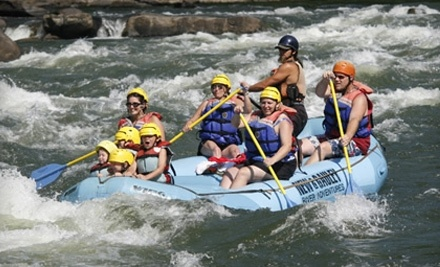 New & Gauley River Adventures: 1-Day Whitewater-Rafting Package with 2 Nights of Camping for Monday-Friday - New & Gauley River Adventures in New Haven