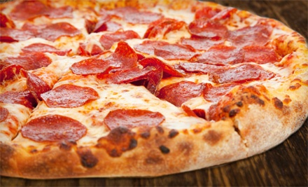 Pizza and American Cuisine at Giant New York Pizza (Half Off). Two Options Available.