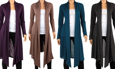 Women's Long Open-Front Cardigan
