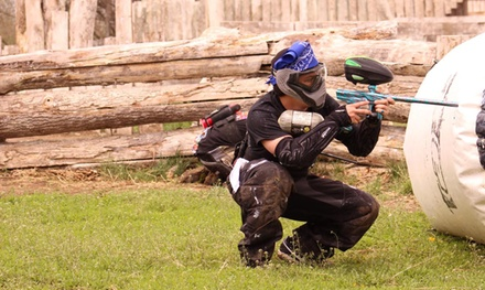 100-Round Paintball Game with Equipment for Two, Four, or Six at Jaegers Paintball Complex (Up to 54% Off)