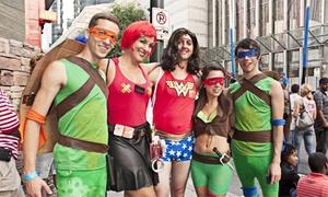 Carolina Nightlife -Charlotte Base: Superhero Bar Crawl for One or Two from Carolina Nightlife (47% Off)