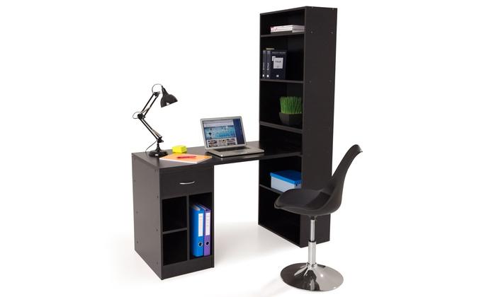 Bureau avec étagère groupon