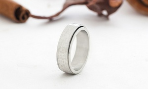 $5 For A Personalized Religious Spinner Ring For Her In Stainless Steel From Monogramhub ($39.99 Value)