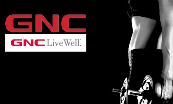 GNC - Multiple Locations: $20 for $40 Worth of Vitamins, Mineral & Herbal Supplements, Sports Nutrition Products & More at GNC
