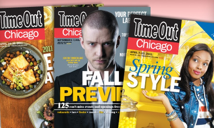 """""""Time Out Chicago"""" - Oak Park: $8 for a One-Year Subscription to """"Time Out Chicago"""" ($19.99 Value)"""
