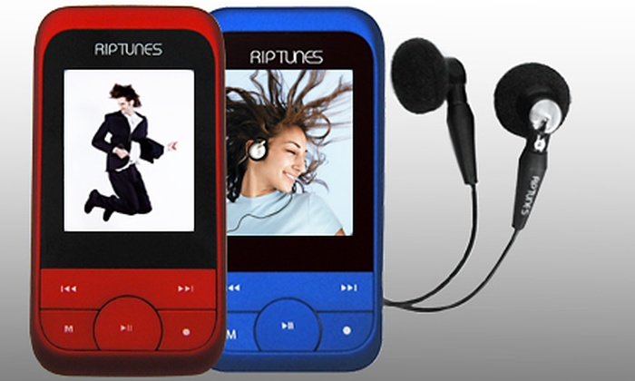 Groupon Goods: $25 for a Blue or Red Riptunes 4GB MP3 Music and Video Player with FM Radio ($49.99 Value). Shipping Included.