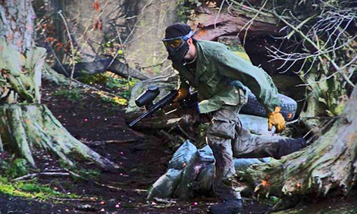 Tsawwassen Paintball Games - Delta: All-Day Paintball Outing for Two or Four with Paintballs and Gear at Tsawwassen Paintball Games in Delta (Up to 53% Off)