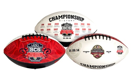 Florida State BCS 2014 National Championship Football. Free Returns.