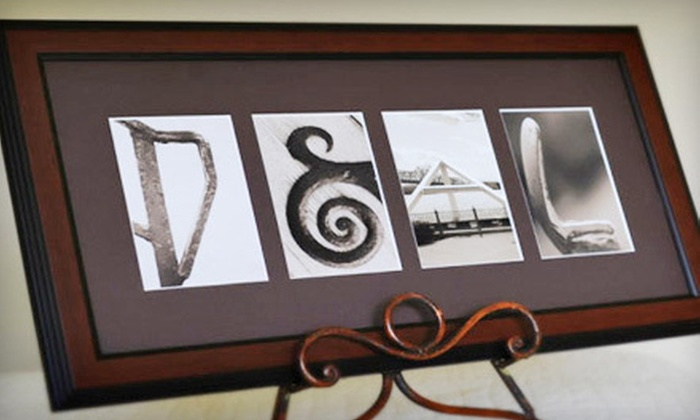 Sticks and Stones: $65 for a Personalized, Framed Alphabet-Photography Keepsake from Sticks and Stones ($139.99 Value)