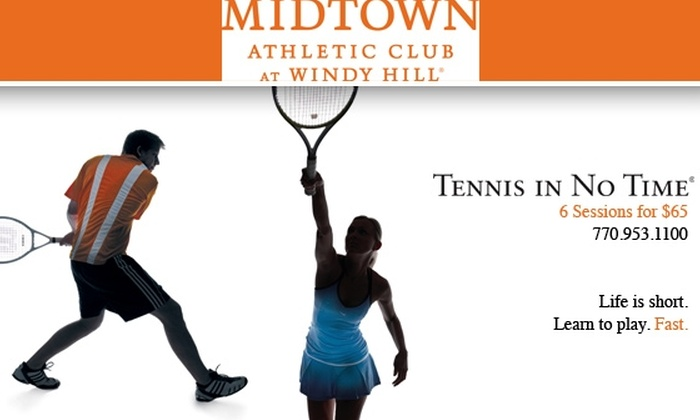Midtown Athletic Club at Windy Hill - Northeast Cobb: $65 for 6 Tennis Lessons & 3-Week Use of Midtown Athletic Club