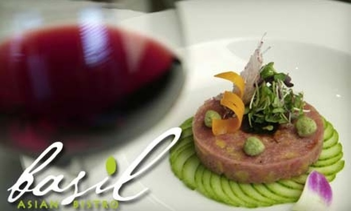 Basil Asian Bistro - Franklin: $15 for $30 Worth of Asian Fare and Drinks at Basil Asian Bistro