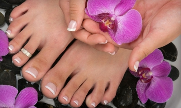 Milan Salon and Day Spa - Vista Del Sol West: $39 for a Mani-Pedi at Milan Salon and Day Spa ($93 Value)
