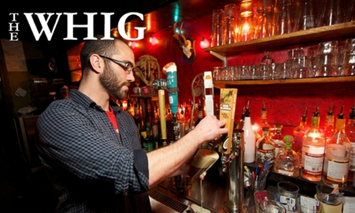 The Whig - Downtown: $10 for $20 Worth of Pub Fare and Pours at The Whig