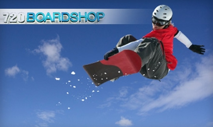 720 Boardshop - Multiple Locations: $12 for a Full Snowboard Tuning at 720 Boardshop ($25 Value)