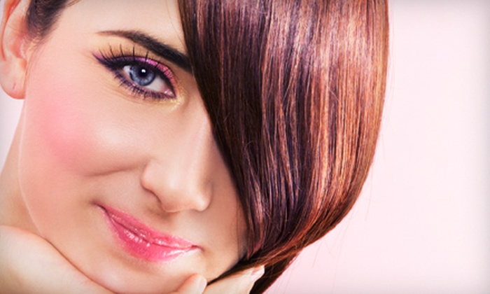 Tyler Day Salon - Raleigh / Durham: $49 for a Women's Haircut and Color (Up to $115 Value) or $12 for a Men's Haircut ($25 Value) at Tyler Day Salon in Holly Springs