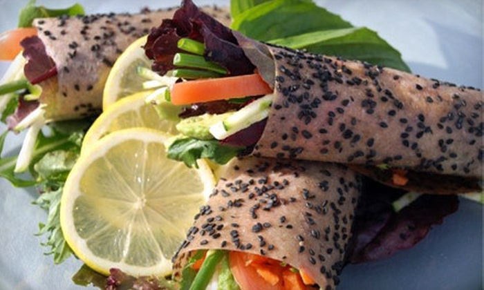 118 Degrees - Costa Mesa: Raw and Vegan Dinner for Two or 10 Premade Organic Meals at 118 Degrees in Costa Mesa (Up to 66% Off)