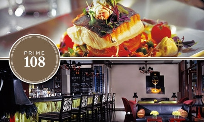 Prime 108 - Downtown Nashville: $20 for $45 Worth of Upscale Dining and Drinks at Prime 108