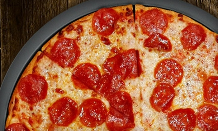 Grandstand Pizza - Woodlawn: $7 for $14 Worth of Pizza, Sandwiches, and Drinks at Grandstand Pizza in Grove City