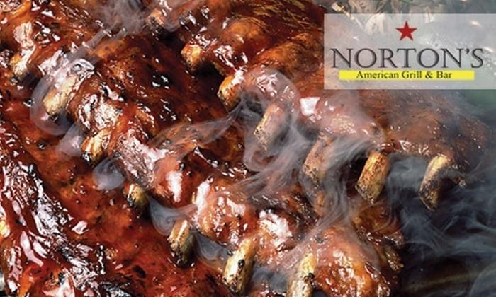 Norton's American Grill & Bar - Dranesville: $10 for $20 Worth of Casual Steakhouse Fare at Norton's American Grill & Bar