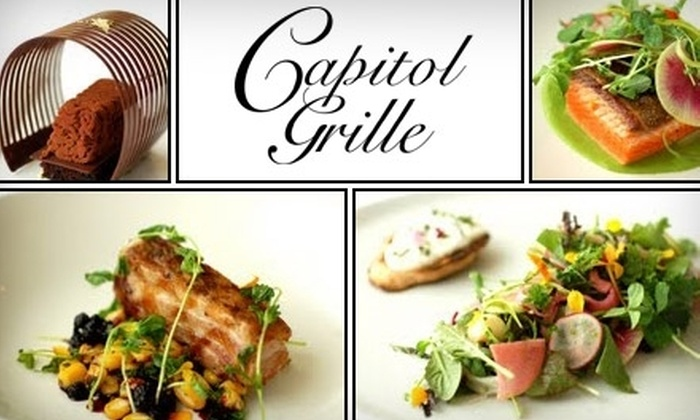 Capitol Grille - Downtown Nashville: $30 for $60 Worth of Progressive Southern Cuisine and Drinks at the Capitol Grille