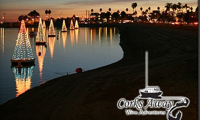 Corks Away - Belmont Shore: $45 for a Holiday Magic Wine Cruise on Alamitos Bay with Corks Away in Long Beach ($93 Value)