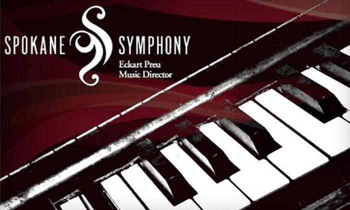 "Spokane Symphony - Spokane / Coeur d'Alene: $22 for One Ticket to ""Vladimir Feltsman's Brahms 2"" at the Spokane Symphony ($44 Value). Choose Between Two Options."